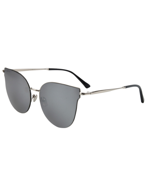 chic Street Fashion Silver-Rim Cat Eye Sunglasses -   Mobile