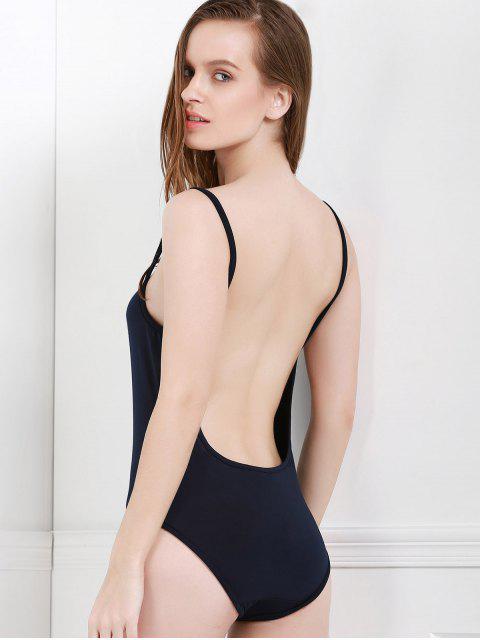 best Spaghetti Strap Backless One-Piece Swimwear - BLACK M Mobile