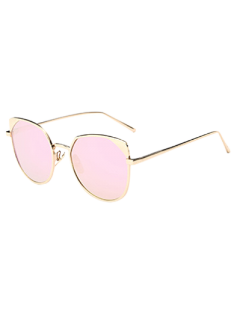 hot Hipsters Cat Eye Mirrored Sunglasses - SHALLOW PINK  Mobile