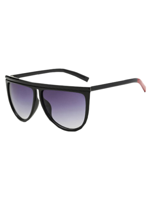 new Color Block Leg Oversized Sunglasses - BLACK  Mobile