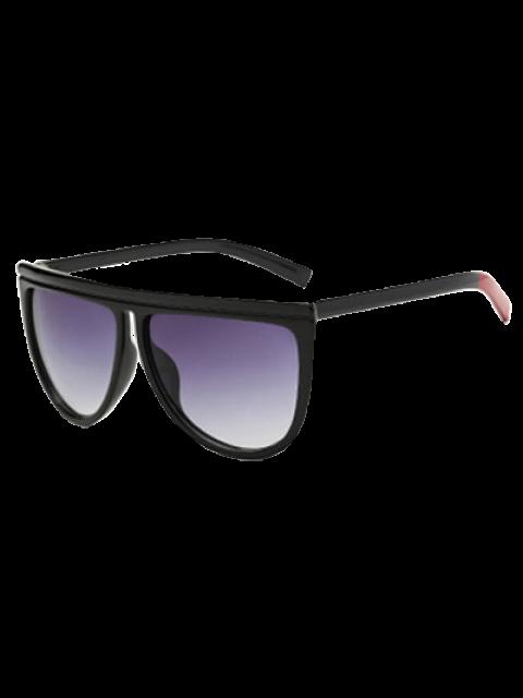 Del bloque del color de la pierna de gran tamaño gafas de sol - Negro  Mobile