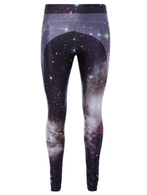3D Starry Sky Drucken Skinny Gym Leggings