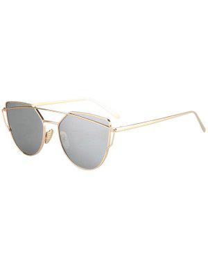 Metal Bar Golden Frame Pilot Sonnenbrille