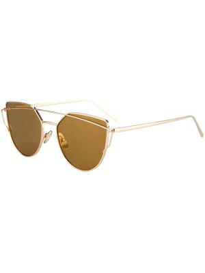 Metal Bar Golden Frame Pilot Sunglasses