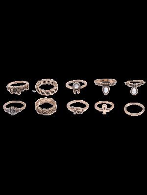 De diamantes de imitación anillos de la flor del elefante
