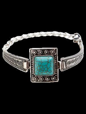 Bracelet Boho embelli bjoux carré turquoise fausse