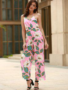 e47556942d2a Floral Print Halter Backless Jumpsuit; Floral Print Halter Backless  Jumpsuit ...