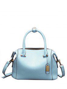 حقيبة توتي من الجلد المصنع بلون الكاندي - أزرق