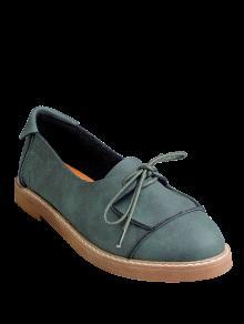 De Muy Buen Gusto Con Cordones De Los Zapatos Planos - Verde 37