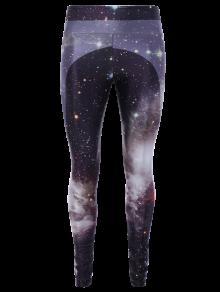 3D Starry Sky Print Skinny Gym Leggings