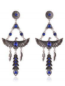 Par De Estilo De Imitación Pendientes De Cristal Decorado De Eagle Para Las Mujeres - Azul Zafiro