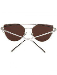 b2fba2ffa3 22% OFF  2019 Metal Bar Silver Frame Sunglasses In LIGHT BLUE