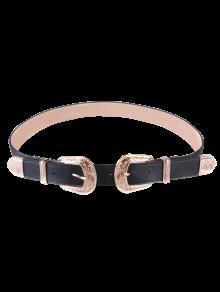 Buy Vintage Double Buckles Wide Belt - GOLDEN