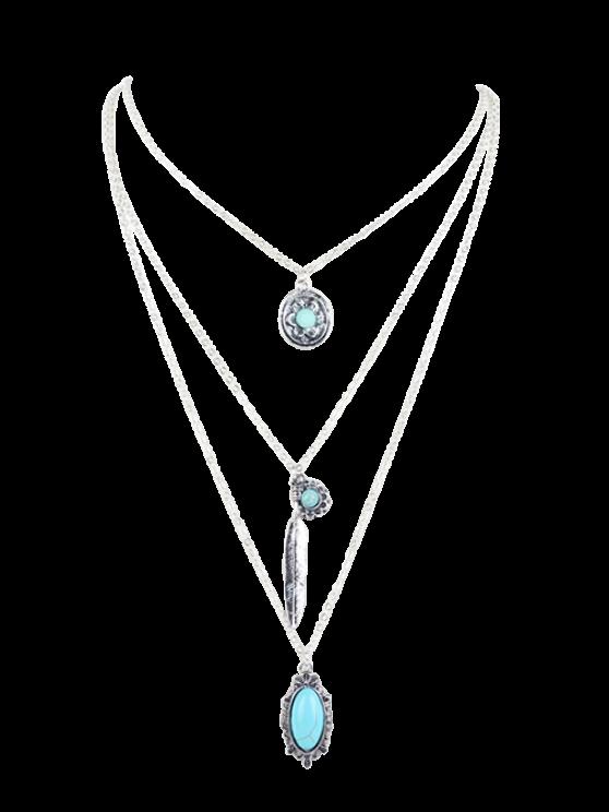 Resultado de imagem para Bohemian Layered Pendant Necklace