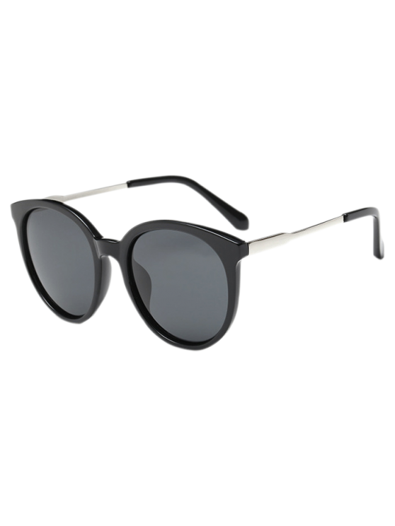 hot Street Wear Cat Eye Sunglasses - BLACK