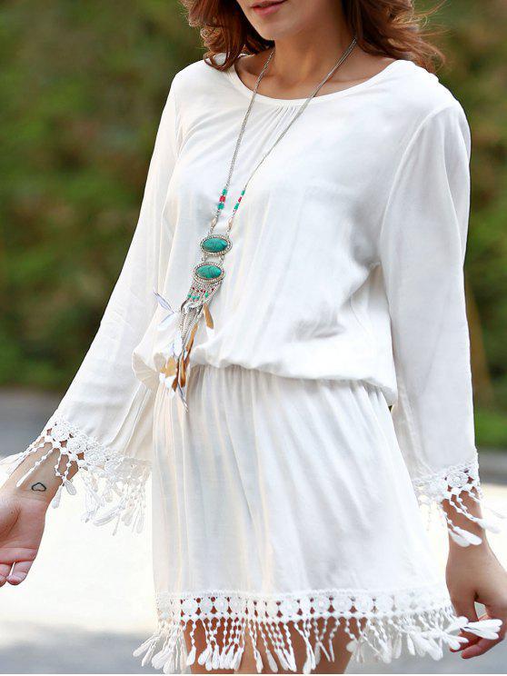 Beach Blouson Dress Cover Up - Blanco Un tamaño(Montar tam