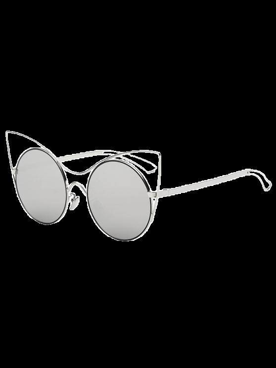 hollow out bein katze augenspiegel sonnenbrille silber sonnenbrille zaful. Black Bedroom Furniture Sets. Home Design Ideas