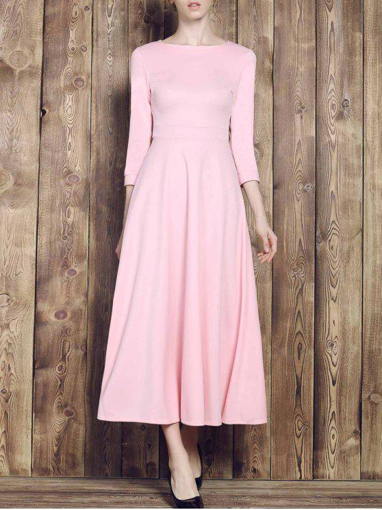 sale Fit and Flare Maxi Dress - PINK L