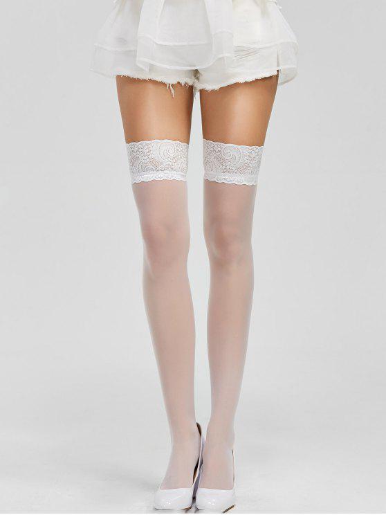 الرباط وحة مطاطا جوارب شير - أبيض مقاس واحد