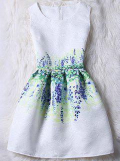 Robe Débardeur Coloré Jacquard - Blanc Xl