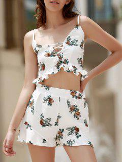 Floral Print Cami Open Back Maxi Dress - Xl