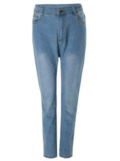 Bleach Wash Wrapped Jeans - Deep Blue M