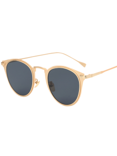 Metal Cat Eye Sunglasses - Golden