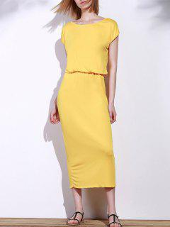 Blouson Maxi Dress - Yellow Xl