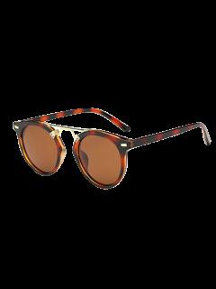 Dam Nose Bridge Hawksbill Oval Sunglasses - Red