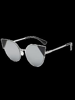 Insertar Triángulo Del Ojo De Gato Gafas De Sol Espejadas - Plata