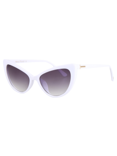 Letter T Shape Inlay Sunglasses - White