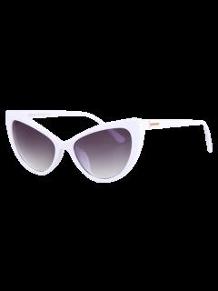 Letra T En Forma De Embutido De Las Gafas De Sol - Blanco