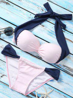 Bikini à Deux Couleurs - Bleu Et Rose S