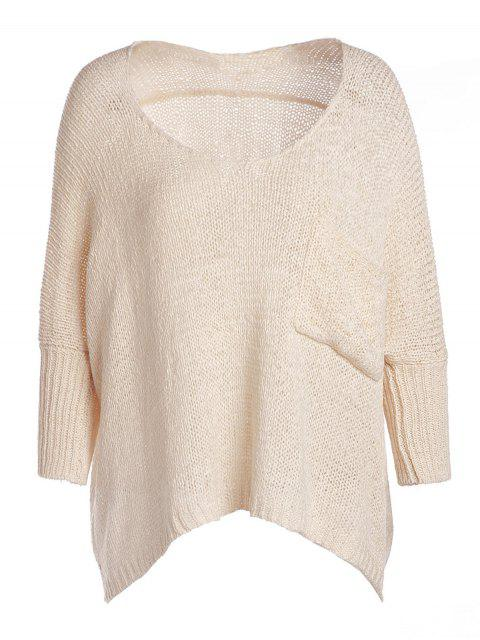 shops Open Knit Scoop Neck Oversized Sweater - APRICOT ONE SIZE(FIT SIZE XS TO M) Mobile