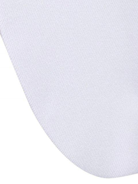 hot Notched Solid Color Long Sleeve Blazer - WHITE L Mobile