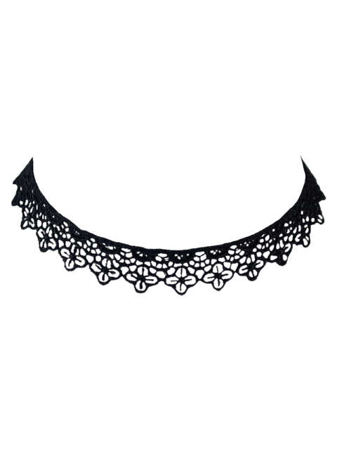 latest Lace Floral Hollow Out Choker -   Mobile