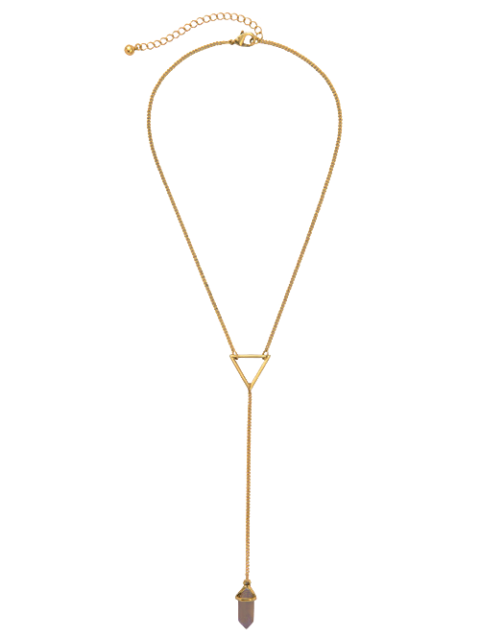 fashion Bullet Natural Stone Necklace - GOLDEN  Mobile