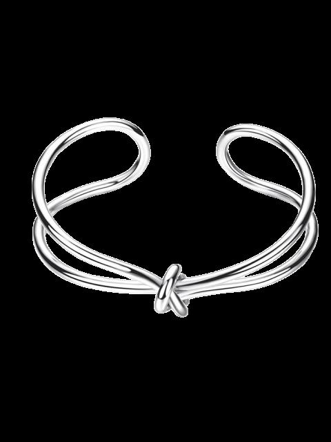 Unendliches Armband mit Knotendetail - SILVER  Mobile