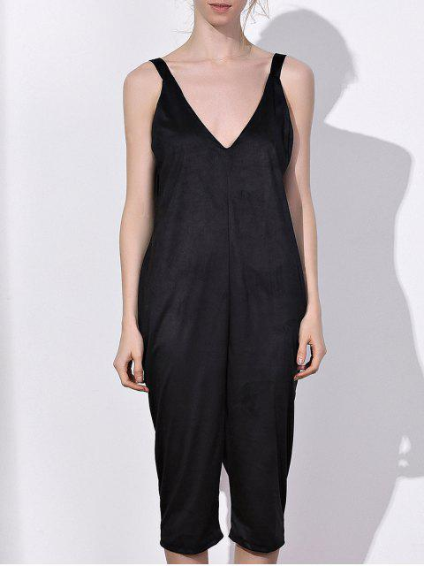 fancy Oversized Minimal Jumpsuit - BLACK M Mobile