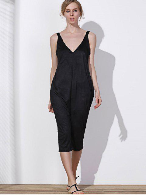 sale Oversized Minimal Jumpsuit - BLACK XL Mobile