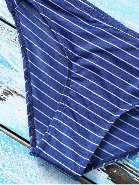 best Strappy Bikini Set - PURPLISH BLUE S Mobile