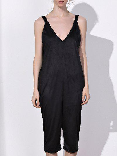 Oversized Minimal Jumpsuit - Black Xl