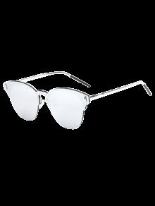 Buy Butterfly Shaped Mirrored Sunglasses - SILVER