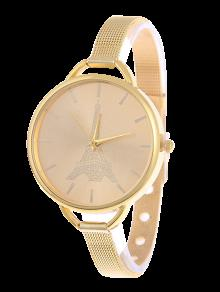 Buy Eiffel Tower Quartz Alloy Watch GOLDEN