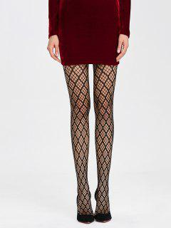 Cutwork See Thru Collants - Noir