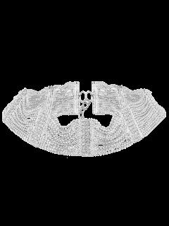 Collar Gargantilla De Diamantes De Imitación - Plata