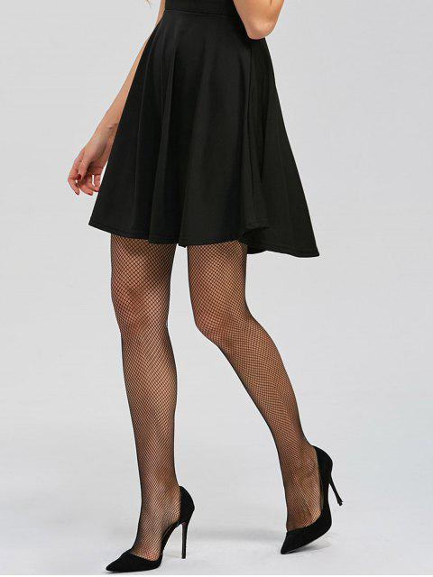 affordable Sheer Fishnet Tights - BLACK ONE SIZE Mobile