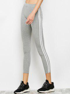 Two Tone  Workout Running Leggings - Gray