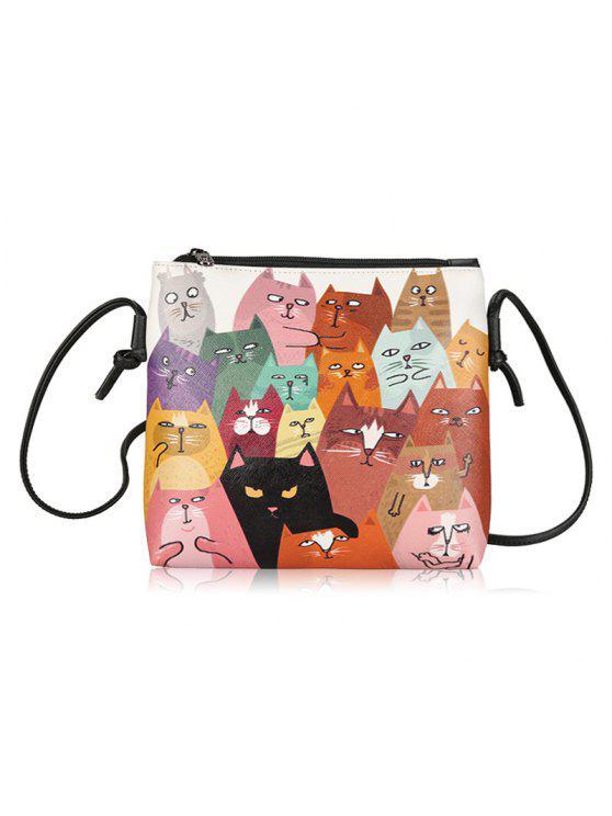 الحيوان طباعة مضحك حقيبة كروسبودي - مزيج ملون