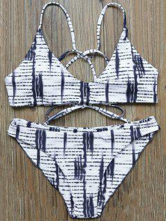 Traje De Bikini A Rayas Con Tiro Bajo - L